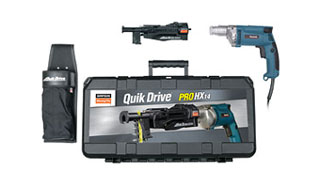 Simpson Quik Drive PROHX14 Auto-Feed Screw Driving System - Simpson Quik Drive PROHX14 Auto-Feed Screw Driving Kit, with Auto-Feed, Makita electric Screwgun, holster and tool case. Price/Each. (UPS ground shipment only; photo ID and signanture required on delivery)