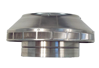 10 in. Dia. Aura Pop Vent, Roof Breather / Intake Vent - 10 inch inside diameter POP VENT roof-air-intake / breather vent retrofit, 7 inch height of head. All aluminum, mill finish unpainted. Price/Each. (shipping lead time 3-5 business days)