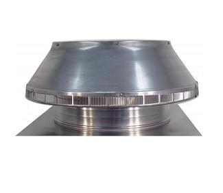 18 in. Dia. Aura Pop Vent,  Roof Intake w/ Breather Vent w/ 4 in Collar - 18 inch inside diameter Aura Pop Vent. Roof air intake/breather/exhasust vent. With 24x24 inch square base flange and 4 inch collar height. All aluminum, mill finish. Price/Each. (shipping lead time 2 business days)