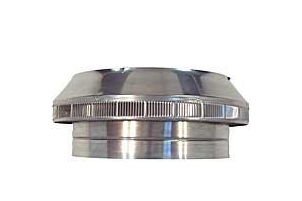 24 in. Dia. Aura Pop Vent - 24 inch inside diameter Aura  POP VENT roof-air-intake / breather vent retrofit, 11 inch height of head. All aluminum, mill finish. Price/Each. (shipping lead time 2 business days)