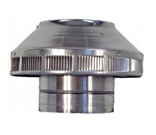 6 in. Dia.Aura  Pop Vent, Roof Air Intake/Exhaust Vent - 6 inch inside diameter Aura POP VENT. Roof air-intake/breather/exhaust vent. 7 inch height of head. All aluminum, mill finish unpainted. Price/Each. (shipping lead time 2 business days)