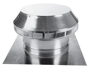8 in. Dia. Aura Pop Vent,  Roof Air Intake Vent, 4 in Collar - 8 inch Inside Diameter Aura Pop Vent Roof air intake/breather/exhaust vent.  13x13 Square Flange Base with 4-inch High Collar. For Tile Roofs. All Aluminum, Mill Finish. Price/Each. (leadtime 2 business days)