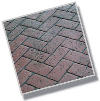 Pennsylvania Avenue Herringbone Brick Concrete Stamp