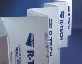 R Tech Fanfold EPS Foam Insulation 3 8 Inch White Foil Faced
