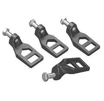 Zurn Clamping / Lockdown Drain Clamp Lugs (set of 4) - ZURN CAST IRON LOCKDOWN LUG / DRAIN CLAMPS, COMPLETE WITH SECURING BOLTS. 4 LUGS/SET. PRICE/SET.