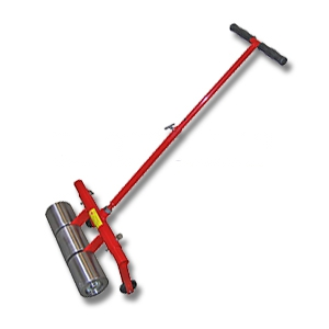 75 Lb. 16-inch Wide Steel Roller, 3-Roller, Standing (1) - 75 lb. 16-inch Wide Steel Roller Tool. 3 Floating Polished-Steel Rollers, Pivoting Legs, Upright Steel Handle for Walk Behind Rolling. Heavy-Duty Contractor Grade Construction. For Roofing, Flooring, etc. Price/Each.