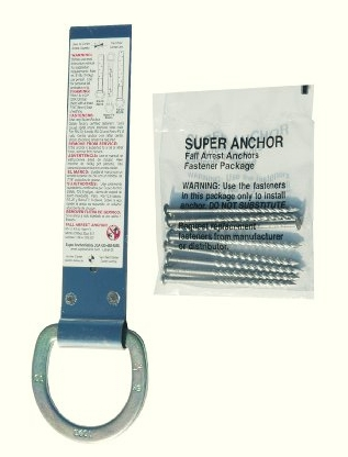 Super Anchor RS-10 Asphalt Shingle Roof Anchor Kit w/Fasteners - Super Anchor RS-10 Permanent Rooftop Anchor Kit with Fasteners, for asphalt Shingle Roof. 10 inches, 20-gauge 302 Stainless Steel, with installation instructions. Complies with OSHA 1926:502(d)15. Price/Kit.