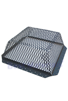 Roof Vent Guard, Animal Control Screen, 16 x 16 x 5, Galv Steel, BLACK