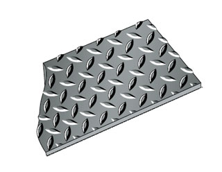 Diamond Plate Runner, 4 x 75 feet, 5/32 inch Thick, Black - RHINOMAT-DV48B, Diamond Plate Runner, 4 x 75 feet x 5/32 inch thick. Black Color. 1250 PSI Tensile Strength, .08% Moisture Absorbtion. Resists most oils, industrial chemicals, household chemicals. Price/Each. (shipping leadtime 1-4 business days)