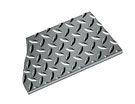 Diamond Plate Runner, 2 x 75 feet, 5/32 inch Thick, Black