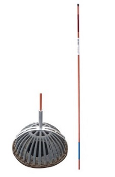 Universal Roof Drain Marker Kit - Universal Roof Drain Marker Kit. Includes Reversable 4 foot Fiberglass Pole, 11 inch Universal Mount Bracket, Stainless Steel Hardware. Enables Quick Roof Drain Location Under Snow and Debris. Made in USA. Price/Kit. (Ship Leadtime 1-3 Business Days)
