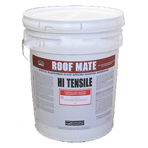 RoofMate HT High Tensile Elastomeric Roof Coating, WHITE (5G) - Roof Mate HT, High Tensile Elastomeric Roof Coating, WHITE color. Meets ASTM D6083, Energy Star and is CCRC Listed. 5-Gallon Bucket. Price/Bucket.