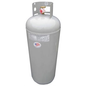 100# / 25-Gallon Propane Tank, POL, no OPD - 100# / 25 Gallon Propane Tank with POL Connection, no OPD valve for maximum flow. Commercial quality LPG cylinder. This does not have an OPD Valve (Overflow Protection Device). Its used with kettles, large torches etc. Made in USA. Price/Each.