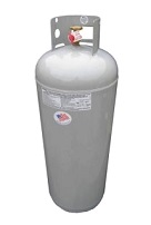 100# / 25-Gallon Propane Tank, POL, no OPD
