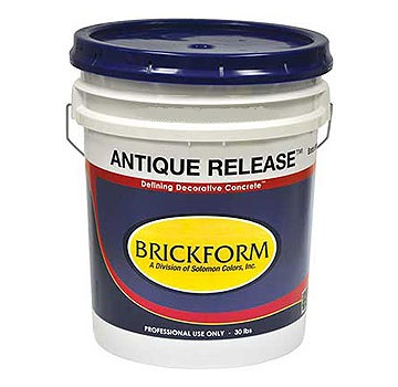 Brickform RA-700 Antique Release, Terra Cotta, 5 Gallon (1) - Brickform RA-700 Antique Release. Fade-Resistant, Prevents Concrete Build-up, Prolongs Tool Life, Terra Cotta Color. 5 Gallon Pail. Price/Pail. (Shipping lead time: 1-3 business days)
