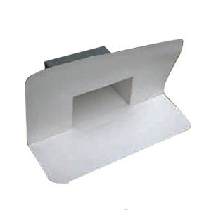 TPO Scupper Drain for Single Ply, SPECIFY SIZE, COLOR (1) - TPO Scupper Drain. Through-Wall or Overflow Type. Specify: Type, Color (White/Tan/Gray) and Opening Size. Weldable TPO with 24 Ga Galv. Steel Frame, Std 12-in long outlet. Price/Each. (special order; see ordering notes in detail view)