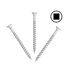 #8 x 2 Tile Roof-To-Wood Screws, Stainless, Collated (2000) - #8 x 2 Inch Tile Roofing-to-Wood Screws, 305 Stainless Steel, Strip Collated, #17 Sharp Point, #2 Square Drive. Simpson Quik Drive SSWSCB Series. 2000/Box. Price/Box.