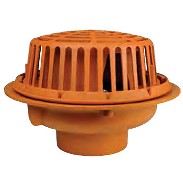 15 Inch Diameter Roof Drain Cast Iron Body Cast Iron Dome 3 Inch No Hub Outlet