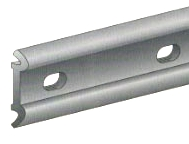 Double Ledge Ribbed Term Bar, .050 Aluminum (500 Ft) - TERMINATION BAR WITH DOUBLE SEALANT LEDGE AND UNDERSIDE RIBS. HOLES ARE 1/8 in. x3/8 in. SLOTS 6 in. ON CENTER. ALUMINUM 0.050 in. THICK X 1 in. WIDE x 10