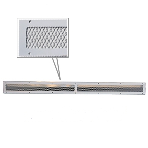 Soffit Vent  / Animal Guard, 4 x 50 inch, WHITE (Case/10) - HY-C Company #VG0450 Soffit Vent / Animal Guards. 18 Gauge WHITE finished Galvanized Steel, 4 inches wide x 50 inch long. 67 sq inches net free area. 10/Case. Price/Case. (shipping leadtime 1-2 days)
