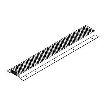 Fire Stopping Continuous Soffit Vent, 2 x 120 in. (1 piece) - Vulcan VSC2120 Fire Stopping Soffit Vent. 2 Inch Wide Vent Area x 10 ft Continuous Piece. Price/1-Piece. (2-4 day shipping leadtime; truck shipping required; 10/case; order full cases for added discounts)