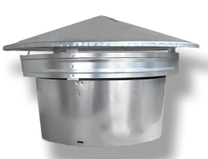 Roof Vent Exhaust Top Cap 10 Inch Galvanized 1