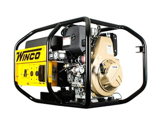 Winco 6010DE Watt Generator, Diesel Powered, Elect.. Start - Winco Model W6010DE, Industrial Grade 6000 Watt Generator (5120W Continuous), Diesel Powered, Electric Start. Price/Each. (battery not included; no air shipments; photo ID AND signature required for delivery)