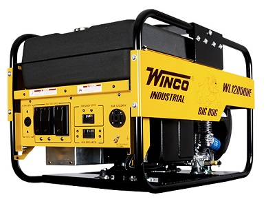Winco 12000 Watt Generator, Gasoline Powered - Winco WL12000HE, 12000 Watt Industrial Power Generator, 20HP Honda GX630 Engine, 15G Gas Tank, 14-60A Main Recepticle. Price/Each. (battery additional; see detail view for ordering notes)