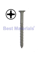 #10 x 4 Wood Deck Screw, Phil Drive, ACQ Finish, 1-LB