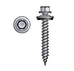 #10 X 1-1/2 Metal Roofing Screws, w/ Neo, COLLATED, Galv. (500) - Simpson Quik Drive HJ112WT10, #10 x 1-1/2 inch COLLATED Metal Roofing/Siding to-Wood Screws with EPDM Backed Seal Washer, Galvanized Finish, Type 17 Point, 1/4 Hex Head. 500 Screws/Box. Price/Box. (leadtime 2-3 business days)