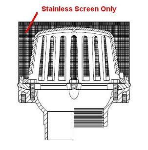 zurn z125 stainless steel mesh screen only zurn z125 stainless steel mesh screen covers