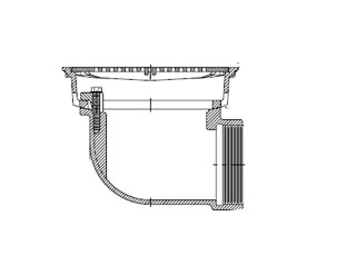 Zurn Z158 10 in. Prom-Deck Drain Kit, 90 degree outlet, 4 in IPS - ZURN Z158 10 in. Square, flat promenade deck drain kit. Dura-coated cast iron, rotating square promenade frame, heel-proof grate, underdeck clamp, frame clamps, 6 in. body height, 4 in. IPS threaded with 90 degree side outlet. Price/Each.