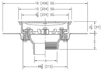 Zurn Z158 10 In Prom Deck Drain Kit W Top Set Plate