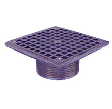 Zurn ZN400-8S Floor Drain Strainer, 8x8 in. Top, Polished Nickel-Bronze - Zurn Z400-8S Floor Drain Strainer Top / Cleanout. 8x8 inch Square, Adjustable Type-S Square Strainer, Heel-Proof Grate. Polished Nickel Bronze. Fits Z415 Base. Price/Each.