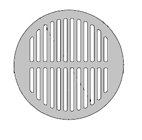 Zurn 11-3/16 OD x 1-1/4 Round Flat Drain Grate, Cast Iron - Zurn 50453-16 Flat Round Drain Grate, Cast Iron, 11-3/16 inch OD x 1-1/4 inch rim thickness. 3/8 x 9-1/2 inch of slots with 33 sqin open grate area. Fits Zurn Z505/Z509/Z512 drains. Price/Each. (aka # P509)