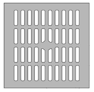 Zurn #46679-1 13-1/4 x 13-1/4 Drain Grate 3/8 Cast Iron