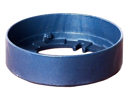 Zurn P125-89 2 inch High Overflow Clamping Ring - Zurn #P125-89 Overflow Ring / Flashing Clamp. Fits Zurn Z125 Series Drains. 2-5/16 inches high x 8-3/8 inch OD, Blue Epoxy Coated Cast Iron. Price/Each. (aka item # P125-89; shipping leadtime 1-2 business days)