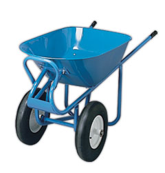 ACRO 70017, 2 Wheel Wheelbarrow With Flat-Free Tires - ACRO #70017, 2-WHEEL WHEELBARROW, 6CU. FT, HEAVY DUTY, WITH FLAT BUSTER TIRES, SHIPS UNASSEMBLED.