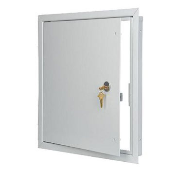 Access Panel, Medium Security, 14x14, w/ Mortise Prep - 14x14 Access Panel, Medium Security, All Purpose Flush Mount, Non-Rated, with 1.125 inch Mortise Lock PREPARATION. (No Cylinder Provided). Price/Each. (special order; leadtime 1-3 weeks)