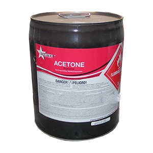 ACETONE SOLVENT, 5 GALLON (not shippable) - ACETONE SOLVENT, 5 GALLON CAN. CURRENT ONLINE SALE PRICING NOT AVAILABLE. PLEASE CALL FOR CURRENT PRICING. (not shippable, in store pick-up only; call for market price)