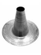 4 inch Hot Pipe Aluminum Flashing Cone, 12.4 Tall x 18.35 OD Base
