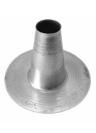 6 inch Hot Pipe Aluminum Flashing Cone, 12.4 Tall x 18.35 OD Bases