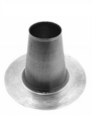 8 inch Hot Pipe Aluminum Flashing Cone, 12.6 Tall x 21.5 OD Bases