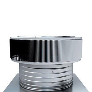 8 in. Aura Electric Powered 210 CFM Quiet Fan Ventilator Kit - 8 in. inside diameter Aura 250 CFM electric powered fan ventilator system. Includes 13x13 inch base flange with a 6 inch collar height. For shingle, tile or foam roofs. All aluminum, mill finish. Price/Each. (shipping leadtime 2-5 business days)