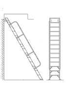 Alaco H60, Ships Stair 60 Deg. Wall-Mount Ladder w/Handrail (6-15 ft)