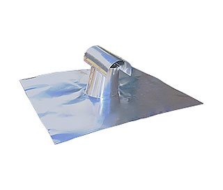 4 in. Aluminum T-Top Vent, Soft Aluminum FHA Base - 4 in. Size T-TOP Vent, FHA Size 24x24 in x .020 Thick Soft Aluminum Base (FHA standard, meets tile roof specs). Price/Each. (UPS shipment only)