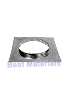 Aura Square Base Flange, 2 inch Collar