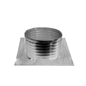 Aura Square Base Flange With 6 in. Collar For 12 in. Vent - Aura 12 inch ID Vent Base. 18x18 inch Square Base Flange With 6 inch High Round Collar. Fits all 12 inch ID Vent Heads. All Aluminum. Mill Finish. Price/Each. (shipping lead time 7-10 business days)