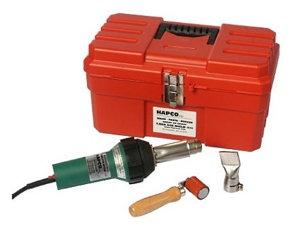 BAK RiOn Hot Air Welder Basic Kit - BAK RiOn Hot Air Welder Basic Kit #1G3.1B. Includes BAK RiOn 1600W 120V Hot Air Welder for roofing membranes, 1-1/2 wide Silicone Roller, 40mm Nozzle, Tool Box. Price/Kit.