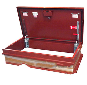 30 X 54 Hurricane Rated Roof Hatch Stair Ship Red Finish